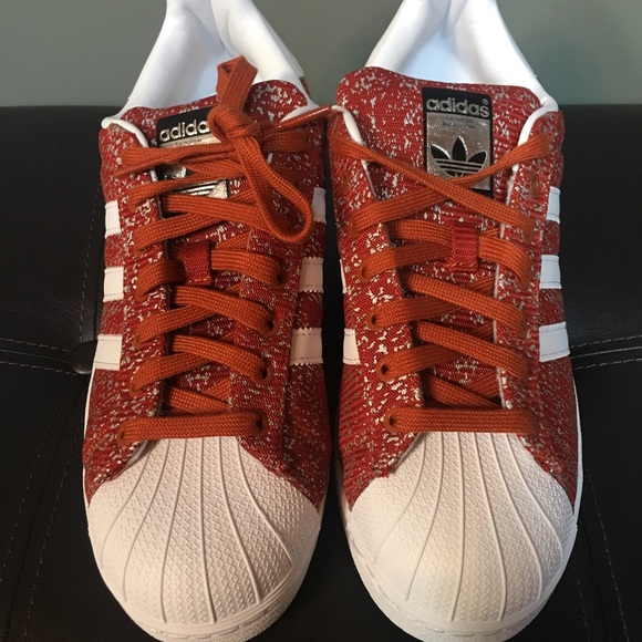 adidas superstar shoes leather mid limited edition red